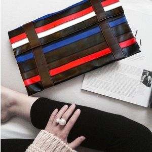 Worth New York Leather Envelope Clutch